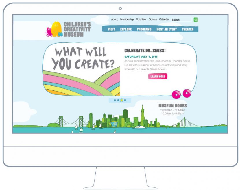 BKW Partners creates website SFO Creativity Museum