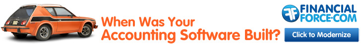 BKW created ad for Financial Force with text: When was your accounting software built?