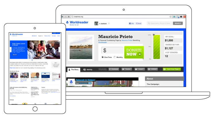BKW Partners created new website and fundraising platform for Worldreader