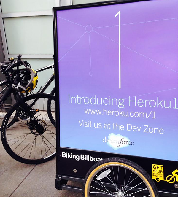 Bicycle Billboards created by BKW Partners for Heroku