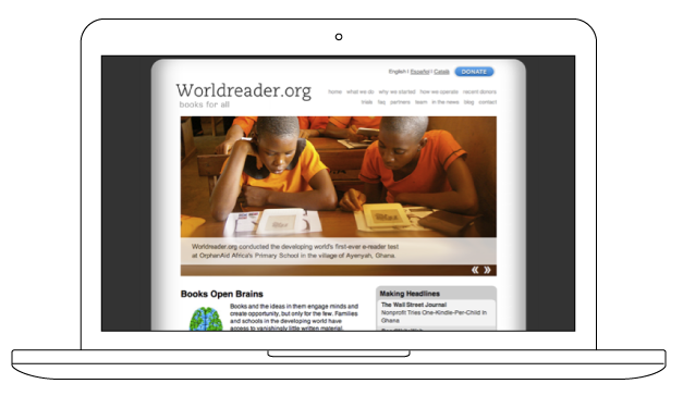 2009 Worldreader.org site designed and build by BKW Partners
