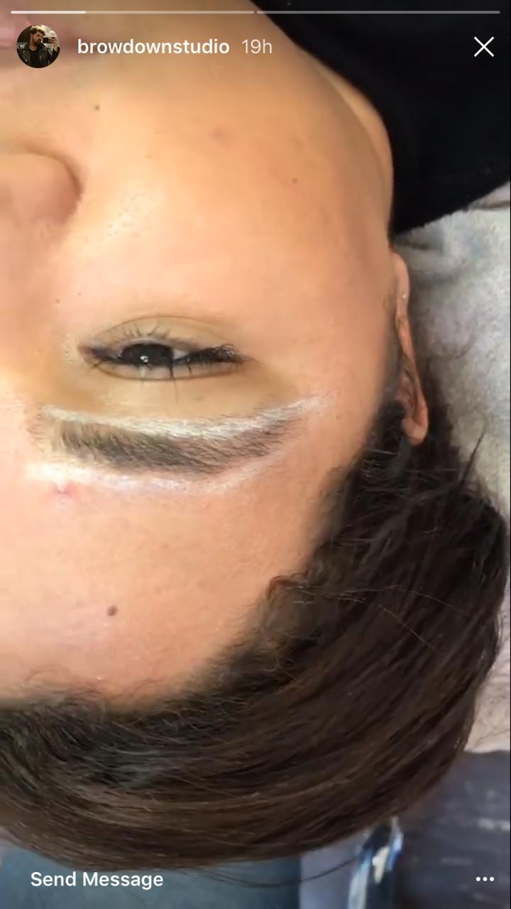 Instagram stories - eyebrow reshaping